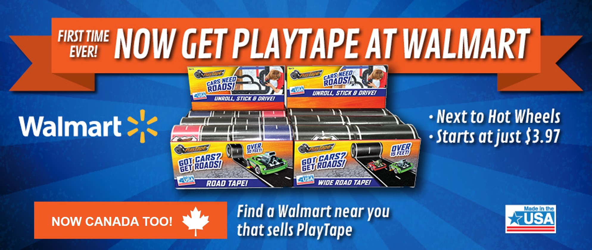 Now get PlayTape at Walmart