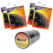 "PlayTape 30' x 4"" Black Road Starter Pack - Includes 4"" Street Curves - Tape Toy Car Track for Kids - Sticker Roll for Cars and Train Sets"